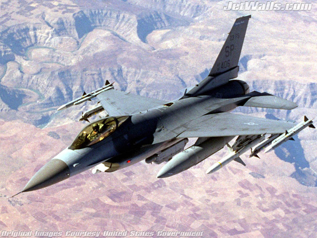 """F-16 Fighting Flacon"" - Wallpaper No. 97 of 101. Right click for saving options."
