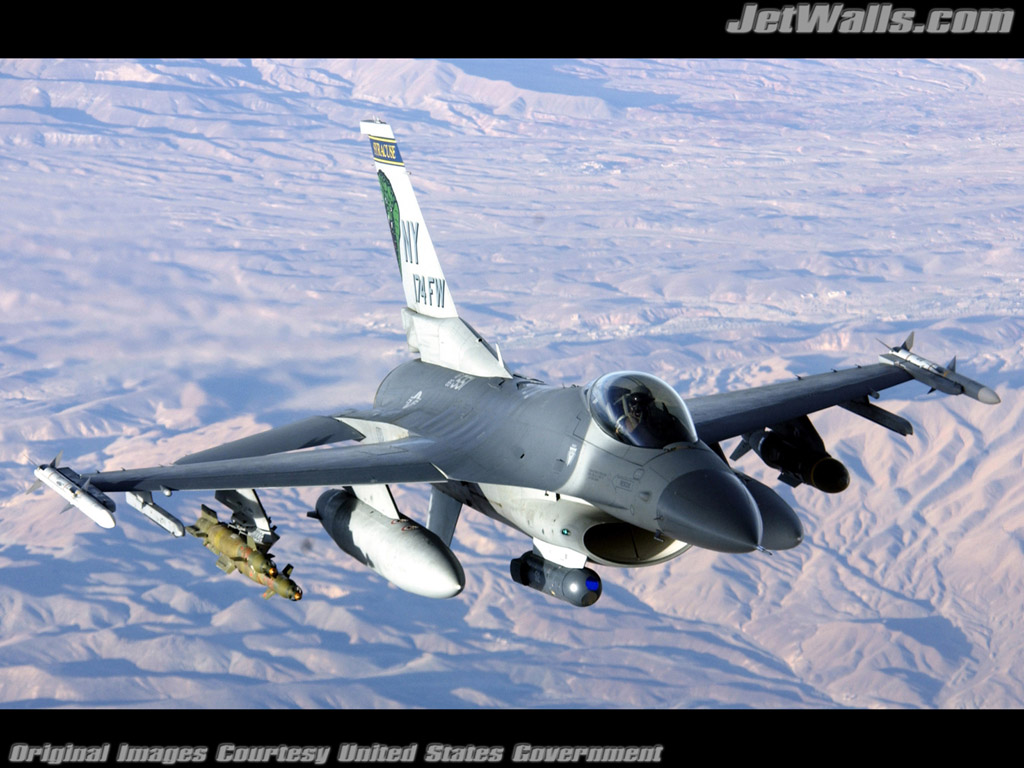 """F-16 Fighting Falcon"" - Wallpaper No. 99 of 101. Right click for saving options."