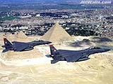 """F-15E Strike Eagles Over Egypt"" - Wallpaper No.8.  Click for 640x480 or select another size."