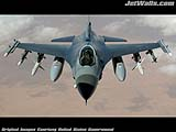 """F-16 Fighting Falcon"" - Wallpaper No.95.  Click for 640x480 or select another size."