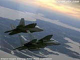 """F/A-22 Raptor F-15 Eagle"" - Wallpaper No.98.  Click for 640x480 or select another size."