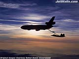"""KC-10 Extender refuels an F/A-22 Raptor"" - Wallpaper No.63.  Click for 640x480 or select another size."