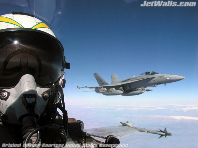 airplane wallpapers. quot;F/A-18 Hornetsquot; - Wallpaper